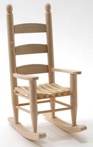 Rocking Chair, Ladder Back, Unfinished