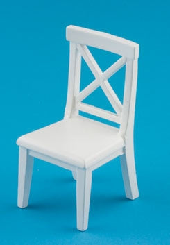 Crossbuck Chair, White