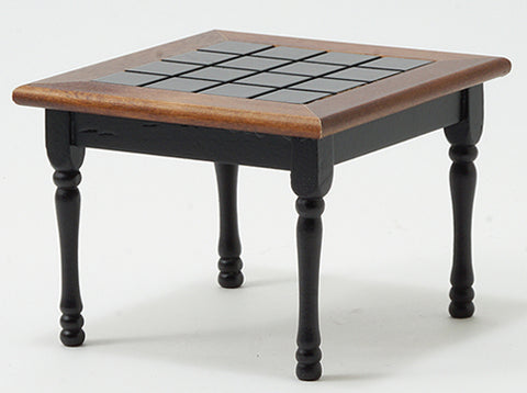 Kitchen Table, Square, Black and Walnut