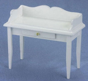 Desk, White with Scalloped Edge