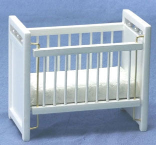 Crib, White, Sturdy for Kids