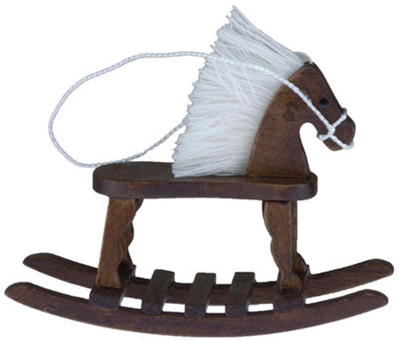 Rocking Horse with Mane, Walnut Finish