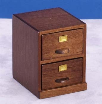 File Cabinet, Two Drawer, Walnut