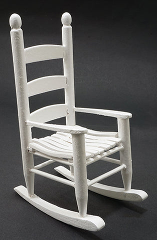 Rocking Chair, Ladder Back, White