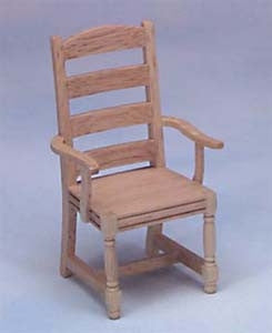 Chair, Oak, Ladder Back Arm