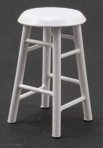 Bar Stool, White Finish