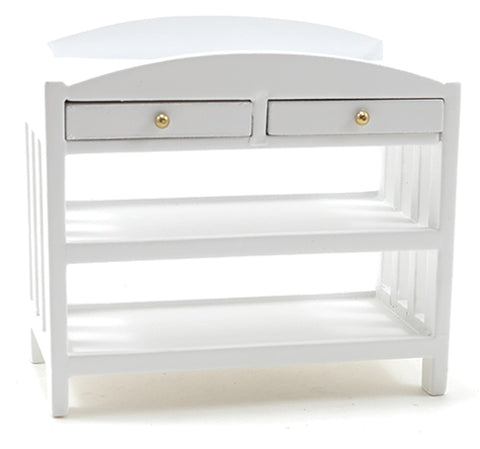 Changing Table with Slat Design, White