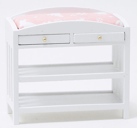 Changing Table with Slat Design