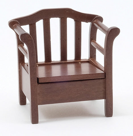 Garden Chair, Walnut Finish