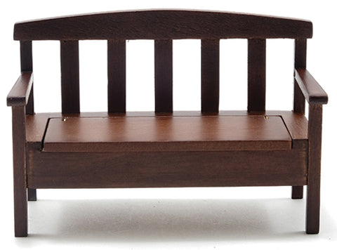 Garden Bench, Walnut