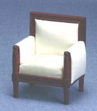 Sheraton Style Chair, Mahogany and Cream OUT OF STOCK