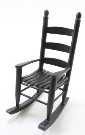 Ladderback Rocking Chair, Black