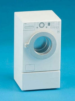 Modern Front Load Washing Machine, White
