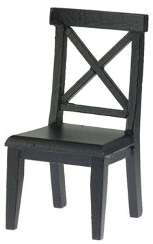 Cross Buck Chair, Black