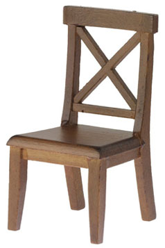 Cross Buck Chair, Walnut Finish