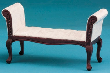 Settee, Mahogany with White