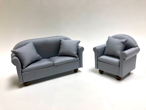 Sofa and Chair, Soft Grey