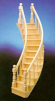 Sprial Staircase, Left Curve, Assembled