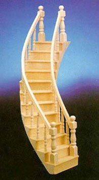Spiral Staircase, Right Curve, Assembled