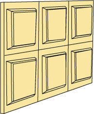 Wainscot Panels, Small Square, Six Squares