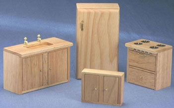 Oak Kitchen, Four Piece Set