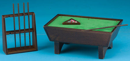 Pool Table Set Walnut Finish