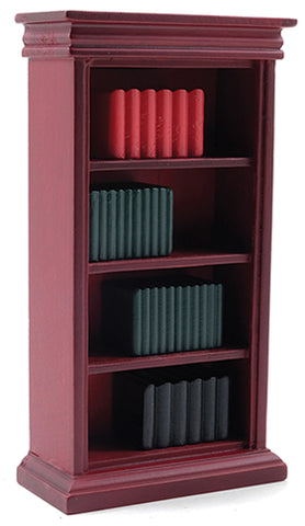 Bookshelf with Books, Mahogany