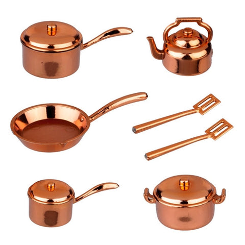 Faux 10 Piece Copper Kitchenware