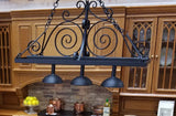 Miniature Hanging Pot Rack with Down Lights by J. Getzan
