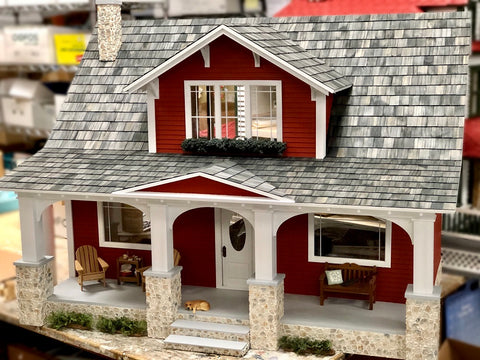 Classic Bungalow Dollhouse with Finished Exterior