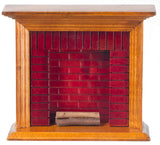 Fireplace, Walnut with Brick ON SALE