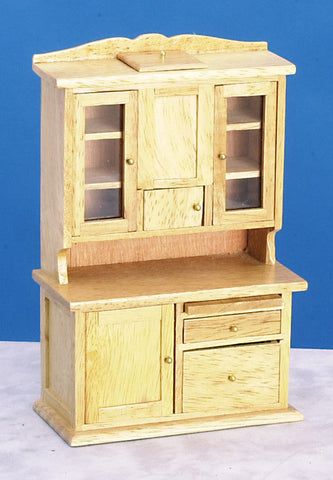 Flour Bin Hutch, Oak Finish