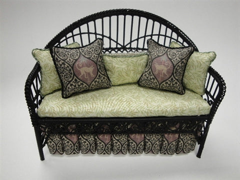Wicker Daybed Settee Tropical Design
