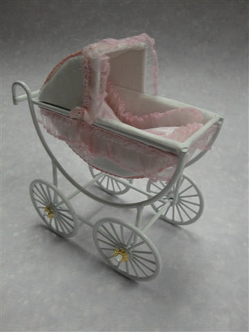Baby Carriage, Pink and White