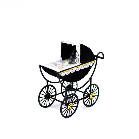 Baby Carriage, Black and White