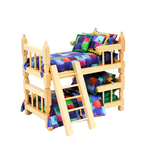 Bunk Bed, Oak and Multi Colors