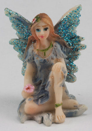 Small Fairy with Knee Up, Blue Dress