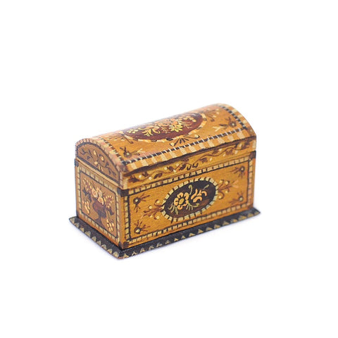 Dollhouse Miniature Painted Box Trunk by Natasha