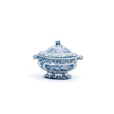 Blue and White Soup Tureen by Amanda Skinner