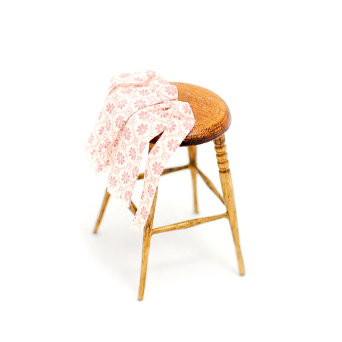 Wooden Stool with Apron