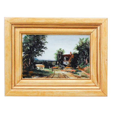 Alfred Vickers Return from The Fields Oil Painting, Miniature Replica