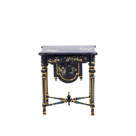 Sewing Table, Black Asian Style