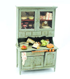 Chrysnbon Hutch, Rustic Green, Filled
