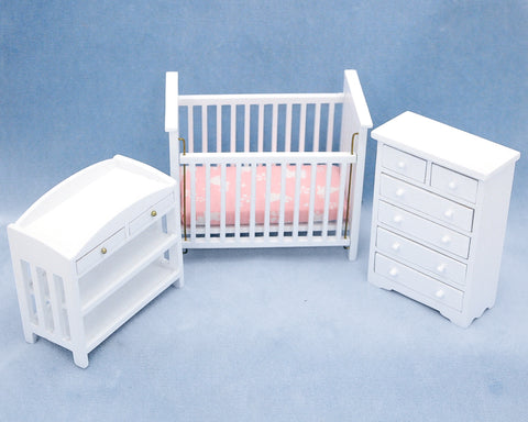 Nursery Set, Three Piece, White