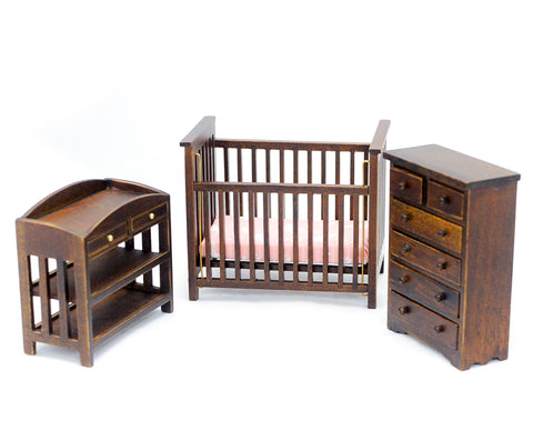 Nursery Set, Three Piece, Walnut