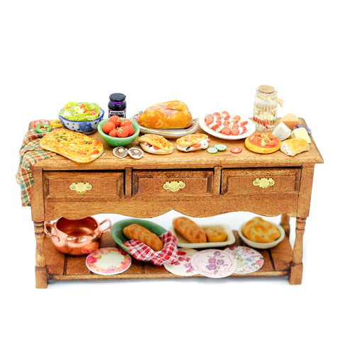 Italian Nibbles Table by Carol Smith