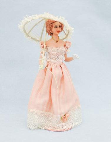 Lady in Peach with Parasol
