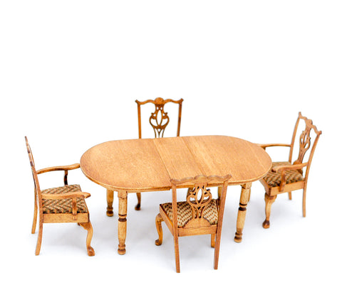 Oak Dining Room Set, Hand Crafted