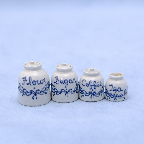 Eileen Vernon Blue and White Canister Set
