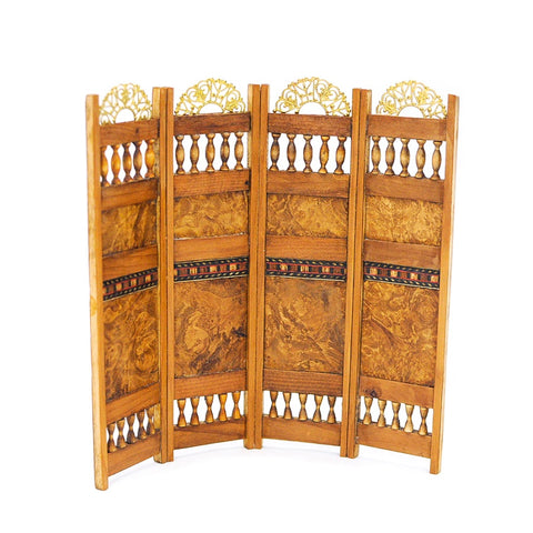 Folding Screen with Burled Wood